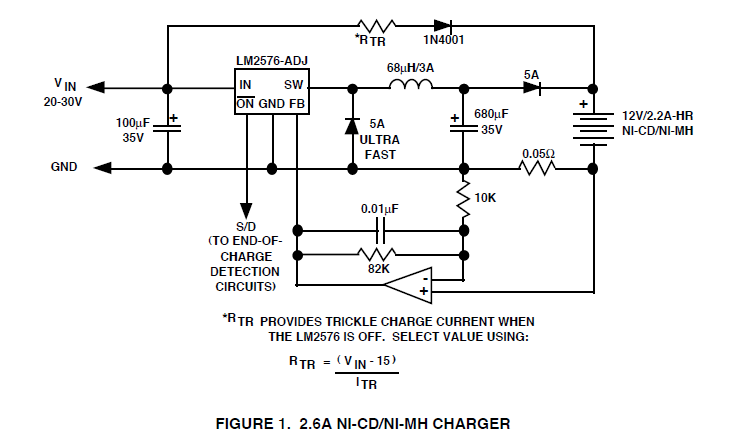 switching nimh battery charger \u2013 lonetechnologistLm2576 In The Battery Charging Circuit Application #7