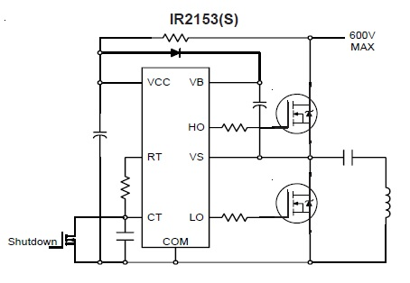 Regulated Half Bridge Switching Power Supply Using ATX